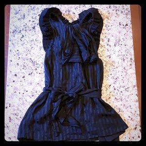 BCBG Max Azria Black Silk Top